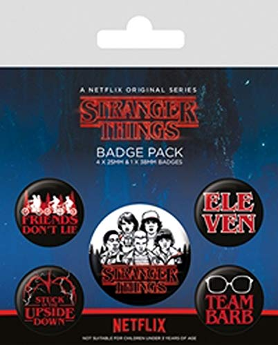 Pyramid Pack Chapas Stranger Things Logo, Multicolor (BP8065
