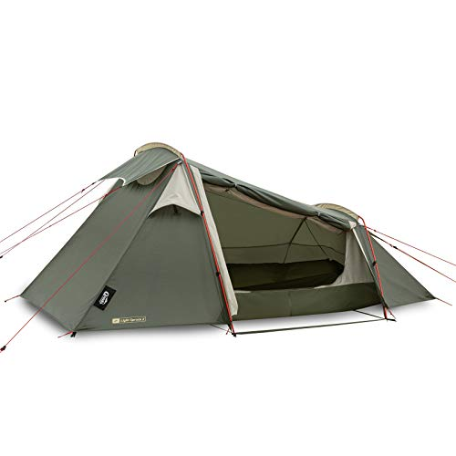 Qeedo Light Spruce 2 Trekkingzelt, ultraleicht (2,3 kg) - Tunnelzelt (2 Personen), windstabil