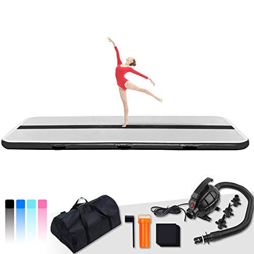 Tuxedo Sailor Inflatable Gymnastics Tumbling Mat Air Tumble Track 10/13ft 4/6in Thickness Air Floor Mat With Electric Air Pump for Gymnastics/Training/Home/Cheerleading/Water/Gym/Yoga