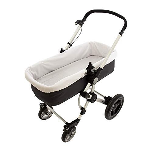 Rosy Fuentes - Funda para capazo de bebé - 33 x 72 cm - Cubre Capazo Bebé - Piqué - Resistente y Duradero - Ajuste perfecto - Accesorios para Bebé - Color Blanco