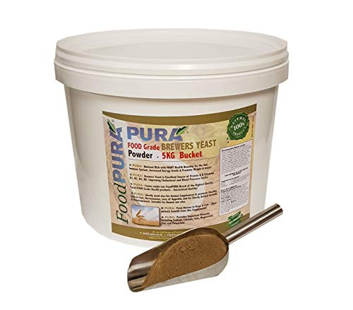 FoodPURA Brewers Yeast Powder 5KG Bucket - use with Horses, Ponies Vitamin B, E & H for Pets and Animals - For Healthy Skin and Coats - also Human FOOD Grade!