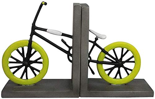 JDTBYMXX Decorative Bookends, Bookends Industrial Vintage Style, Bicycle Shape Home Office Bookshelf and Library Decor