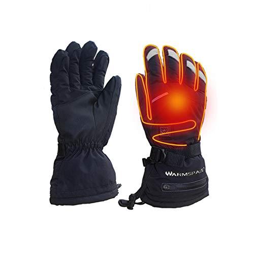 Dewdropy - Recarga de dedos, calentador, termostato de seguridad caliente, guantes calientes, temperatura regulable, 5 velocidades