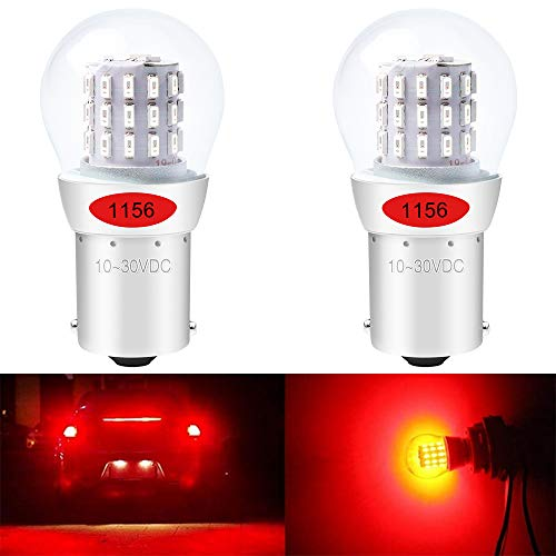 ALOPEE - 2-Pack 1156 BA15S 7506 1141 1003 1073 Extremely Bright Red LED Light 9-30V-DC, AK-3014 39 SMD Replacement Bulbs For Tail Brake Light Lamps