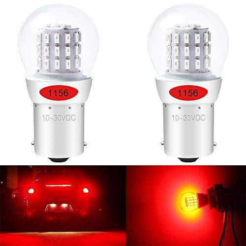 ALOPEE Paquet de 2 1156 BA15S 7506 1141 1003 1073 Lampe LED Rouge Extrêmement Brillante 9-30V-DC, AK-3014 39 Ampoules de Rechange SMD pour Lampes de Frein de Queue