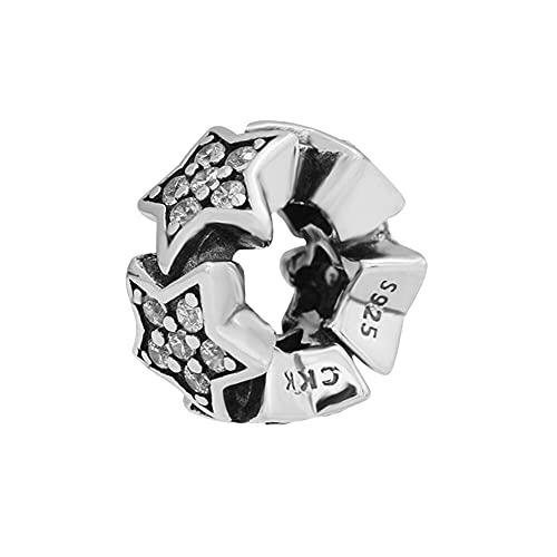 LIIHVYI Pandora Charms para Mujeres Cuentas Plata De Ley 925 Joyas Estrellas Joyas Espaciadoras Compatible con Pulseras Europeos Collars