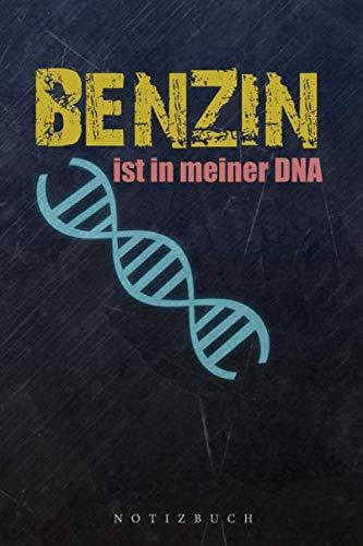 Notizbuch Benzin ist in meiner DNA: A5 120 gepunktete leere blanko Papier Seiten Journal Taschenbuch Notizheft Tuner Auto