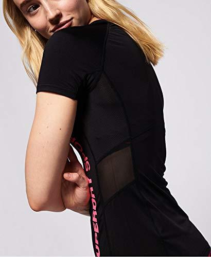 Superdry T-Shirt de Sport en Maille pour Femme XS Noir