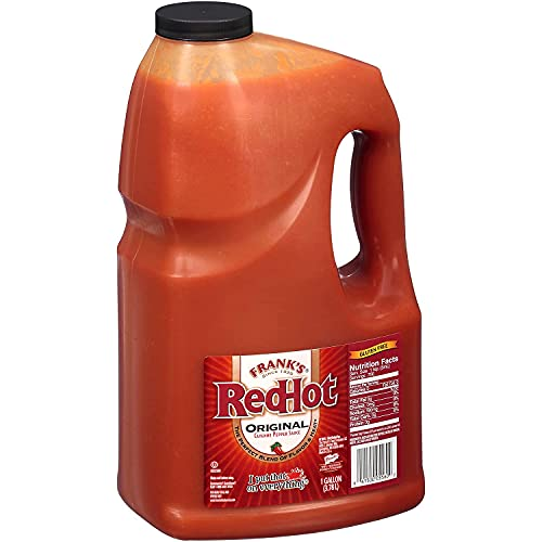 Frank's RedHot Original Cayenne Pepper Hot Sauce, 1 Gallon - One Gallon Bulk Container of Cayenne...