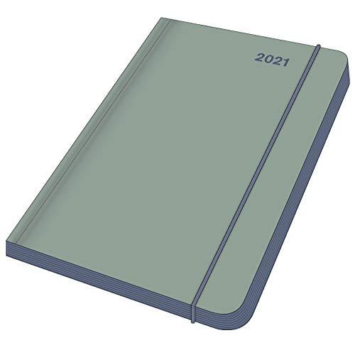 EarthLine Lake - Kalenderbuch A6 - Kalender 2021- Medi Flexi Diary - teNeues-Verlag - Taschenkalender mit farbigem Schnitt - 11,8 cm x 16,8 cm