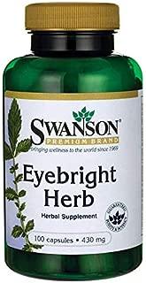 Swanson Eyebright Herb 430 Milligrams 100 Capsules