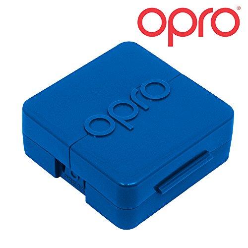 Opro Biomaster Antimikrobielle Schutzhülle für Mundschutz, Ortho Spangen, nightguards | hält Ihr Mundschutz Sicher und hygienisch geschützt, Blau