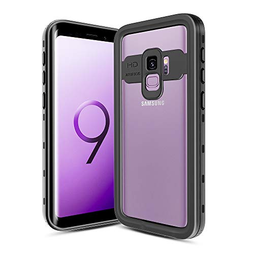 XBK Samsung Galaxy S9 Case, Samsung S9 Waterproof Case, Ultra Protective Shockproof Case with Built-in Screen Protector Full Body Cover Desgin for Galaxy S9 (5.8 Inch,Black)