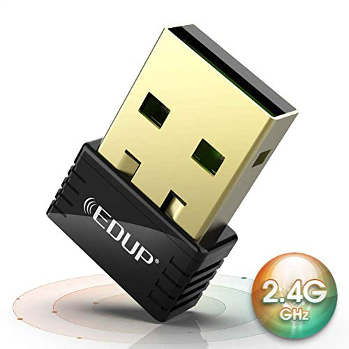 EDUP USB WiFi Adapter for PC 150Mbps Wireless Network Adapter for Desktop Nano Size WiFi Dongle Compatible with Windows 10/7/8.1/XP/Vista/Linux/Mac OS