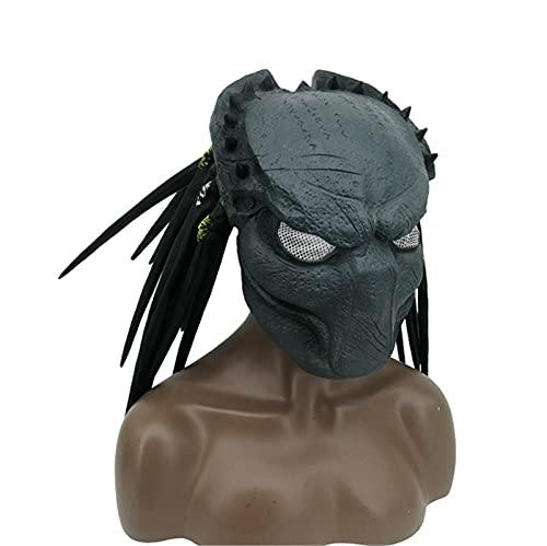 Miugwp Casco de depredador Halloween Mscara ltex Sombrero disfraz Halloween Prop para espectculo disfraces Cosplay