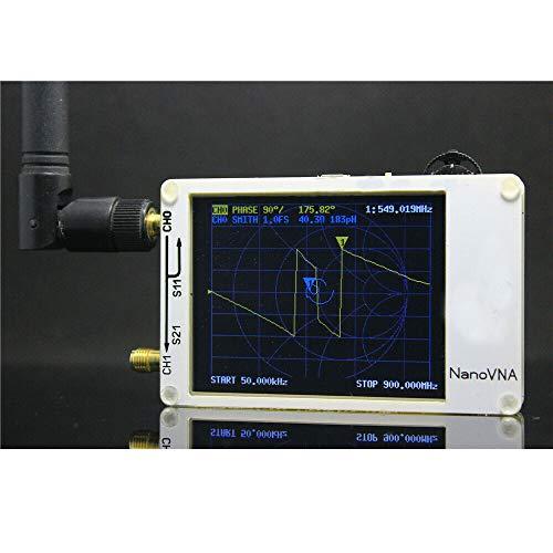 FidgetGear 2.8Inch LCD NanoVNA VNA HF VHF UHF UV Vector Network Analyzer Antenna Analyzer + PC Software + Battery