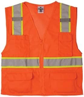 ML Kishigo 1196 Ultra-Cool Polyester Mesh Multi-Pocket Vest, Large, Orange