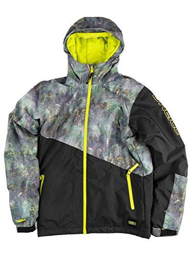 O'Neill Jungen PB HALITE Jackets Snow, Black Aop, 164(XL)
