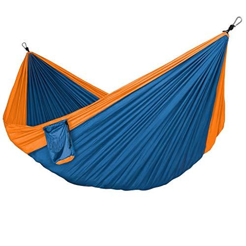 Columpio Jardín Solicitud de hamaca de doble al aire libre 125.9x78.7 pulgadas Nylon Paño para paracaídas Portátil Hamaca de ocio Viaje de ocio Camping Hammock Swing Columpio Exterior ( Color : F )