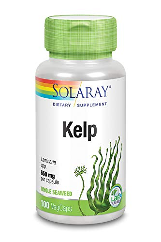 Solaray Kelp with Folic Acid 550 mg 100 Capsules