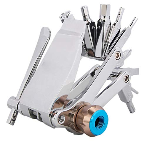 Liadance 16 in 1multifunction Gadget Stainless Steel Bicycle Repair Tool Portable Tool Multitool Portable Bicycle Accessories