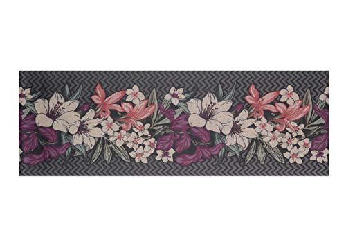 BIANCHERIAWEB Tappeto Passatoia in Tessuto Jacquard Linea Emozioni Disegno Narciso Viola 57x320 Viola