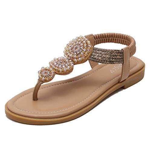 Frauen römische Sandalen Wasserbeständige Sommer Outdoor Strass Strähnen Mode Weiche Strandschuhe Party Bohemia Casual Sandalen
