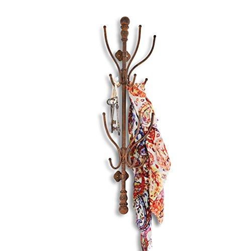 Loberon Garderobe Crenshaw, Eisen, H/B/T ca. 82,5/24,5/15,5 cm, antikbraun