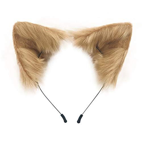 SMILETERNITY Handmade Fox Wolf Cat Ears Headwear Costume Accessories for Halloween Christmas Cosplay Party