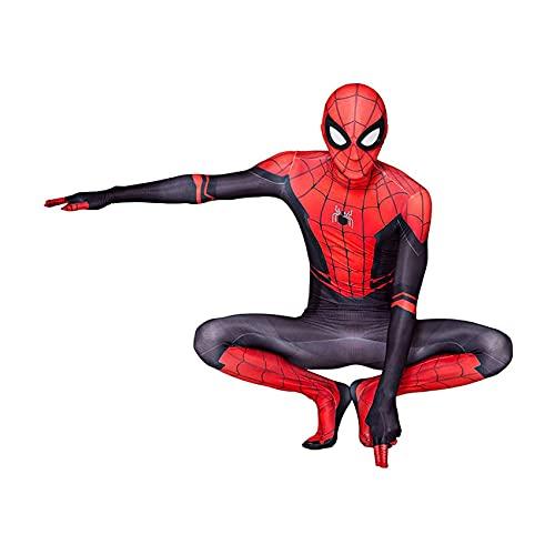 KJHGVBM Costume Spiderman Enfant,Halloween Spiderman Costume De, Superhero Cosplay Costume De Costume pour Enfant,Spiderman Homecoming Costume,Spandex/Lycra