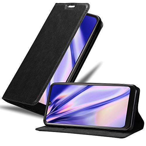 Cadorabo Hülle für LG K50 in Nacht SCHWARZ - Handyhülle mit Magnetverschluss, Standfunktion & Kartenfach - Hülle Cover Schutzhülle Etui Tasche Book Klapp Style