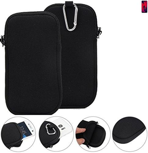K-S-Trade® Neopren Hülle Für Huawei P20 Pro Dual-SIM Schutzhülle Neoprenhülle Sleeve Handyhülle Schutz Hülle Handy Gürtel Tasche Hülle Holster Handytasche Schwarz