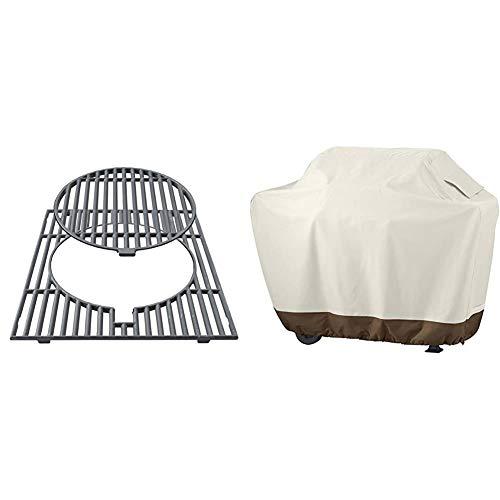 Campingaz Culinary Modular Grillrost aus Gusseisen & Amazon Basics Grillabdeckung, Gurte mit Click-Verschluss, Gr. L