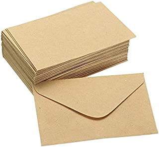 GYHS 50pcs Vintage Colored Blank Mini Kraft Paper Envelopes Wedding Party Invitation Envelope Greeting Card Gift 4 Colors ...