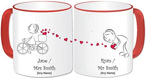 Personalizable con el señor y la señora de la taza - Set de regalo J
