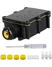 Waterdicht Junction Box, IP68 Outdoor zwart plastic Gland aansluitkastje met 1pc schroevendraaier (2-weg)