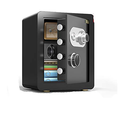 Cabinet Safes Mechanischer sicherer Haushalt Kleiner sicherer Anti-Diebstahl-All-Stahl-Passwort mit wichtigen Mini-feuerfesten Gürtelschloss (Color : C)