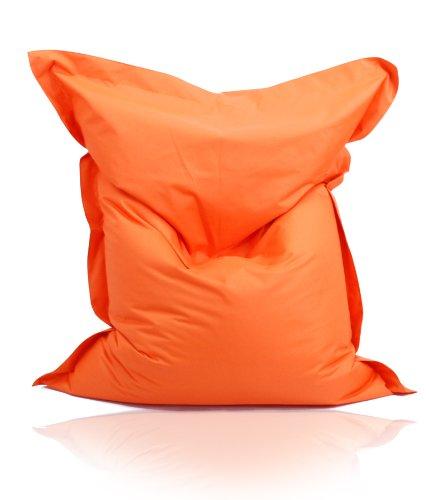 Kinzler S-10026/09 XXL Riesensitzsack, 140x180 cm, Sitzsack Outdoor Indoor, in vielen verschiedenen Farben, mit Innensack, orange