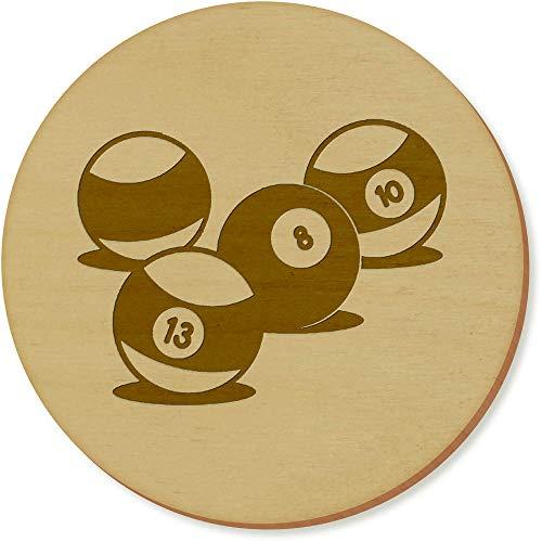 Azeeda 6 x 'Boules de Billard' sous-Verres en Bois (CR00101991)