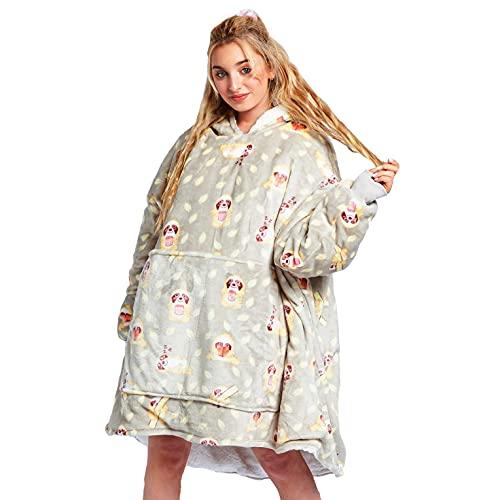 The Oodie | Australia's Favorite Sherpa Wearable Blanket Hoodie| Many Patterns & Colors | Premium Cozy Vegan Sherpa | Large Front Pocket |Plush Oversized Fleece Blanket Sweatshirt (Sloth Oodie)