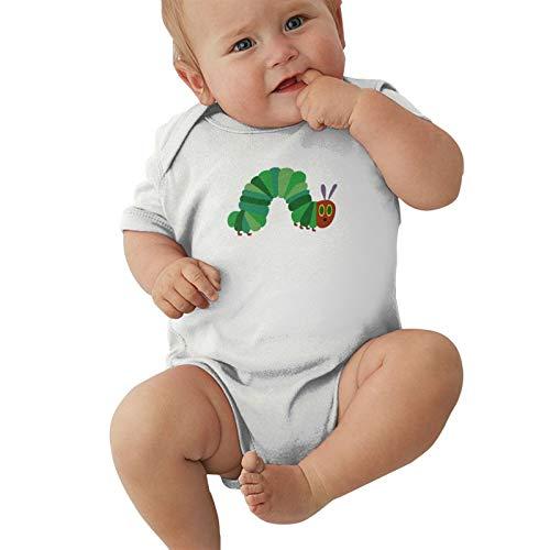 Pijama unisex para bebé y niña, mono de oruga con mucho hambre, para niños de 0 a 2 t, blanco, 6 Meses