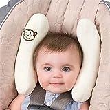 G-Baum Baby-Kopfstütze, Einstellbare Kleinkind Kopfstütze & Halsstütze für Autositz, Kinderwagen, Banana Form, Reise-Kissen für 0 bis 2 Jahre Baby (weiß)