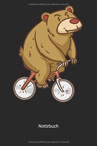 Notizbuch: Bär auf Fahrrad für Biker und Bären Liebhaber (Liniertes Notizbuch mit 100 Seiten für Eintragungen aller Art)