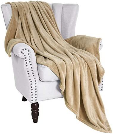 Best Exclusivo Mezcla Large Flannel Fleece Velvet Plush Throw Blanket – 50\