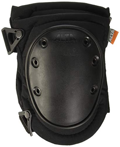 ALTA 50413 AltaFLEX Knee Protector Pad, Black Cordura Nylon Fabric, AltaLOK Fastening, Flexible Cap, Long, Black