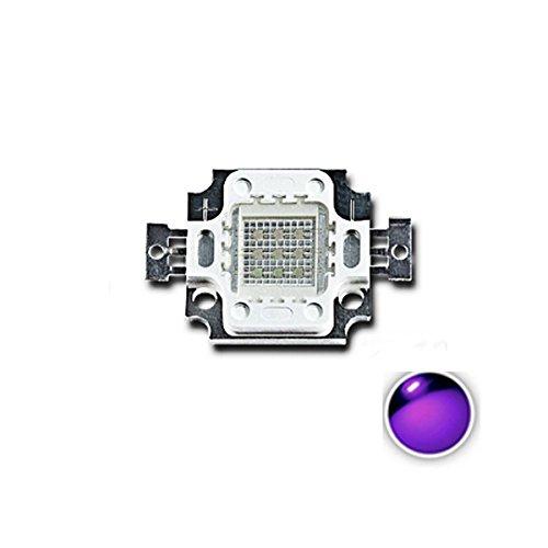 CALALEIE 10W UV Lila LED COB Perlen Licht High Power Ultraviolett DIY Lampe Chip LED-Beleuchtungszubehör (Color : 405-410NM)