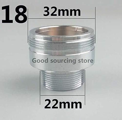 Robinet Accessoires 16 18 20 22 24 mm G3 / 4 G1 / 2 Purificateur d'eau de robinet de cuisine Aérateur adaptateur, accessoires de purification d'eau (Color : Male 32 Male 22)