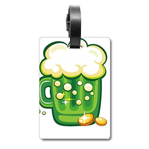 Vierblättriges Kleeblatt Bier Irland St. Patrick's Day Cruise Koffer Bag Tag Tourister Identifikationsetikett