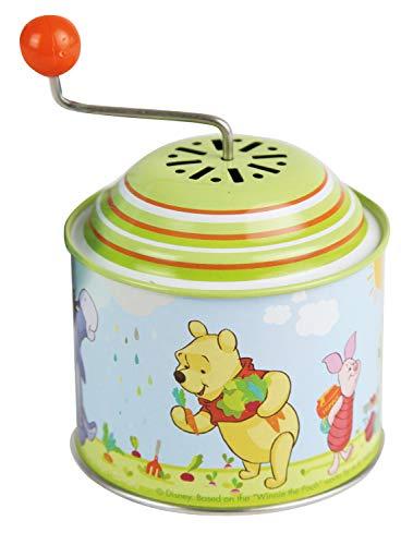 Bolz 52753 Boîte à Musique Disney's Winnie The Pooh, boîte Musicale en tôle avec mélodie Le Printemps tournant en métal pour Enfants à partir de 18 Mois, Puuh Orgel
