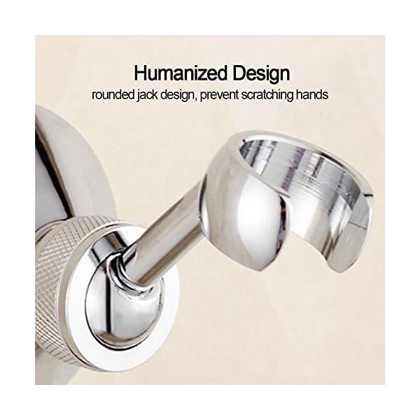 Soporte de ducha de mano, soporte de cabezal de ducha de cobre omnidireccional, soporte de pared enchapado en cromo…